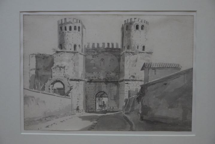 Musee de Grenoble - De Delacroix à Gauguin - Porte Saint-Sébastien à Rome (Anonyme début XIXème)