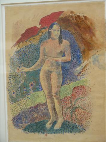 Musee de Grenoble -  De Delacroix à Gauguin - Te nave nave fenua (Terre Délicieuse, Gauguin, 1892)