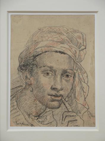 Musée de Grenoble - De Delacroix à Gauguin - Tête d'antillaise (Xavier Zigolon 1821)