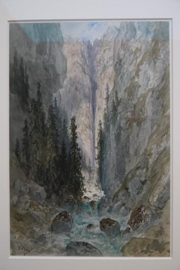 Musee de Grenoble - De Delacroix à Gauguin - Torrent coulant entre les rochers - Gustave Doré