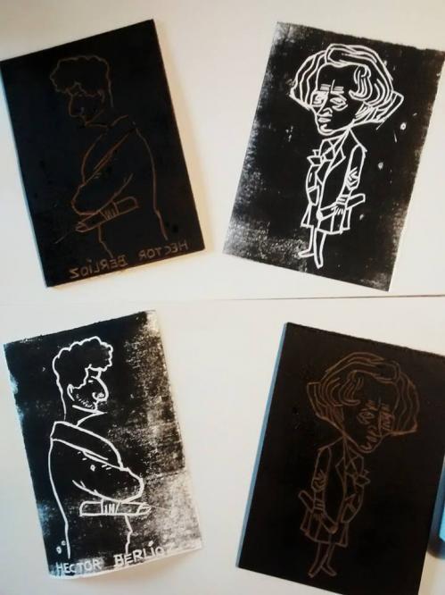 Musee Hector Berlioz - Atelier caricatures en linogravure