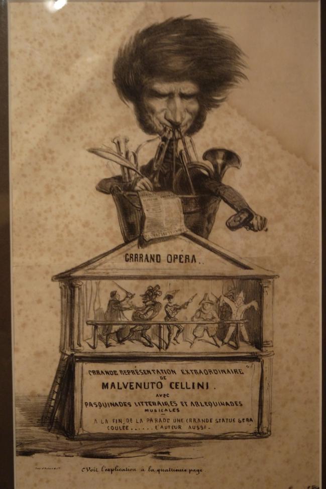 Caricature Berlioz Malvenuto Cellini