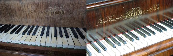 Musee hector berlioz piano marie recio avant et apres restauration