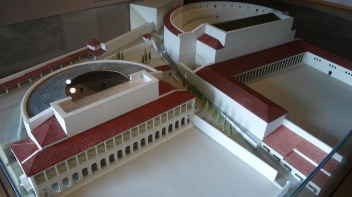 Maquette des théâtres antiques de Lugdunum