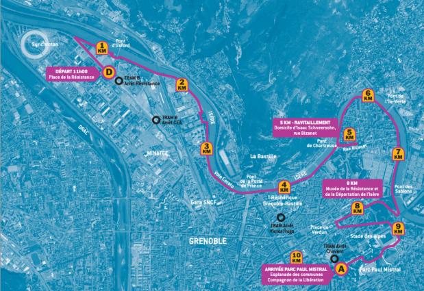 Parcours course de la resistance 2015