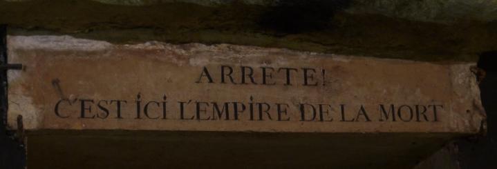 Paris - Catacombes - Entree de l'ossuaire