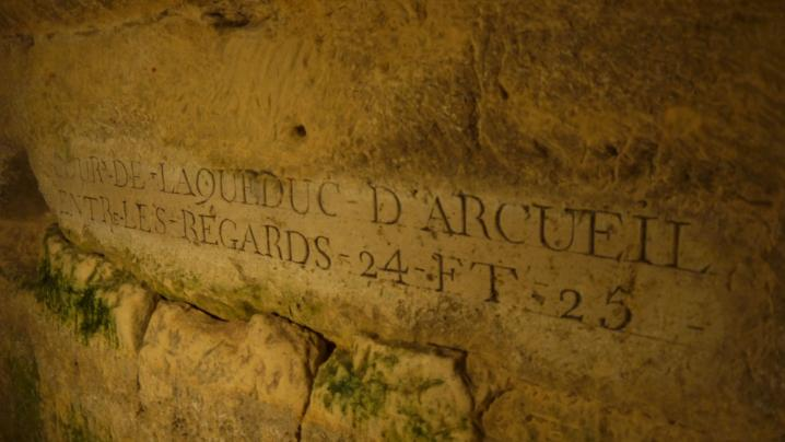 Paris - Ctacombes - Signalétique Aqueduc d'Arcueil