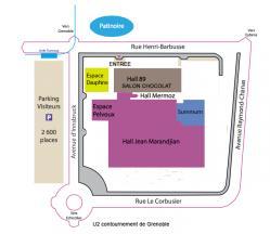Salon du chocolat de Grenoble 2015 Plan d'accès