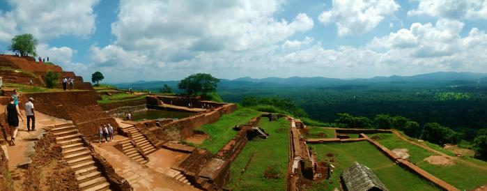 Sri Lanka - Panorama au sommet de Sigiriya