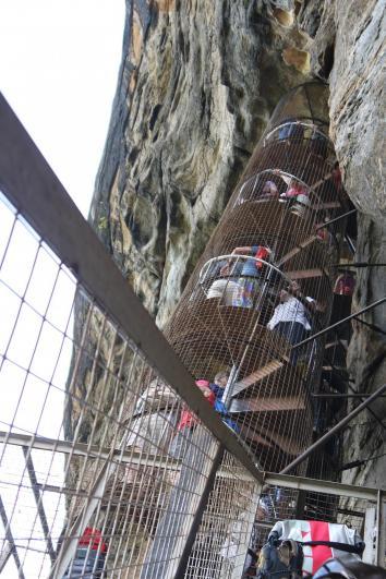 Sri Lanka - Sigiriya escalier a vis