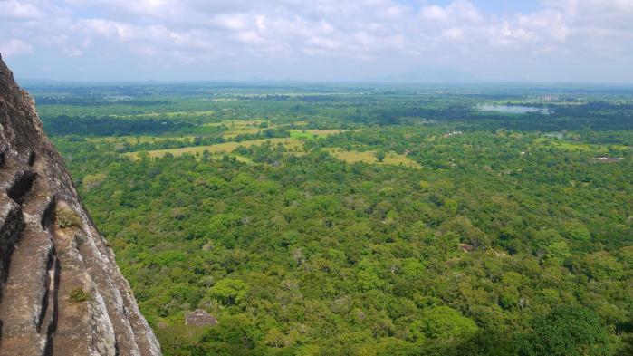 Sri Lanka - Sigiriya - Panorama Ouest Escalier 1 sur 3