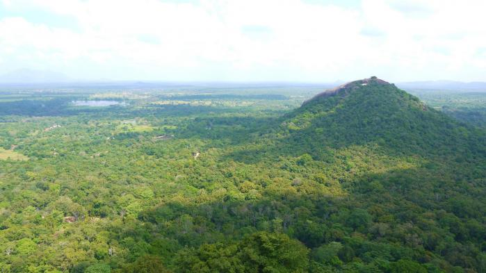 Sri Lanka - Sigiriya - Panorama ouest escalier 2 sur 3