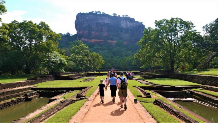 Sri Lanka - C'est parti ! Traversée des jardins de Sigiriya