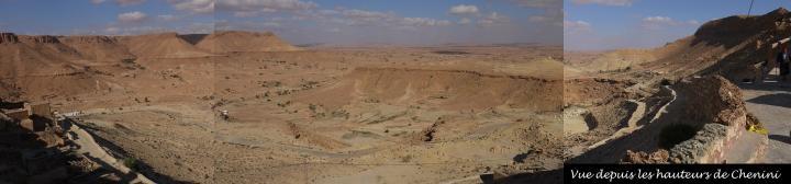 Chénini - Vue panoramique depuis les hauteurs
