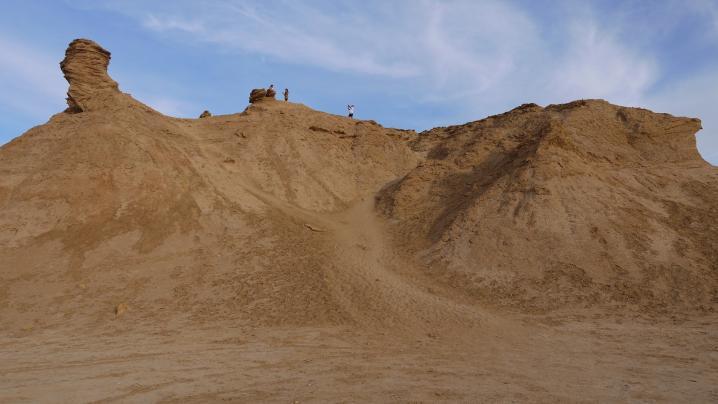 Tunisie - Le rocher du chameau (Ong Jamal), pas très loin de Mos Espa