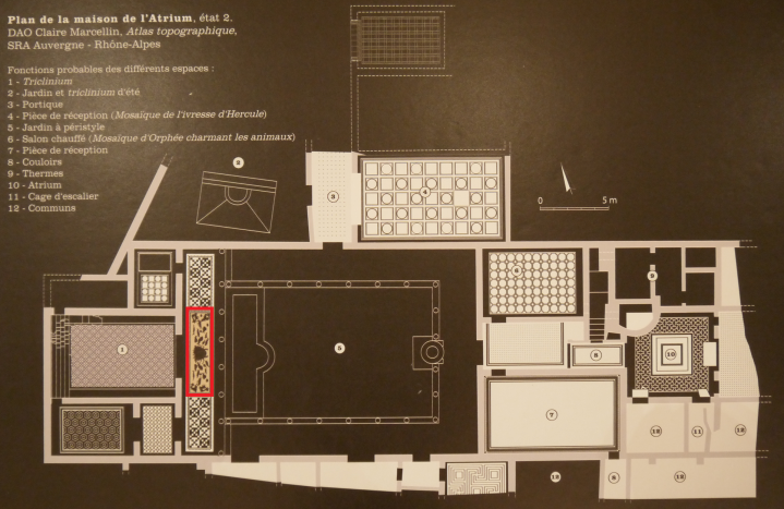 Vienne - Plan de la Maison de l'Atrium