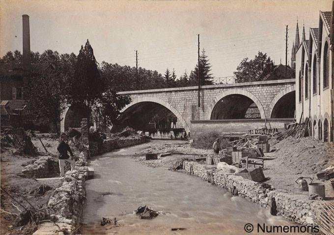 Inondation 1897 - Dégâts près du viaduc