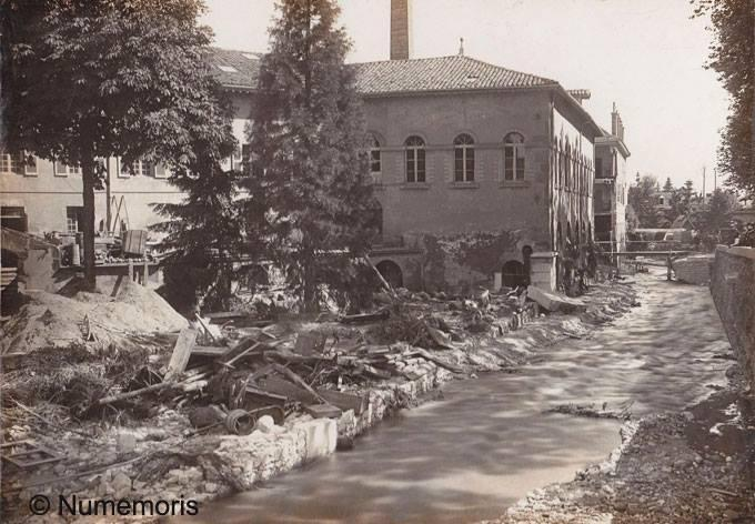 Inondation 1897 - Destruction des papeteries