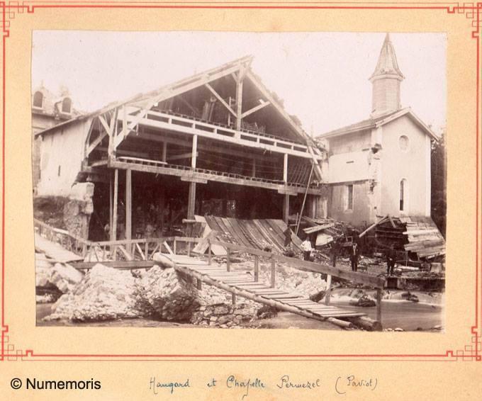 Inondation 1897 - Hangard et Chapelle Permezel Paviot
