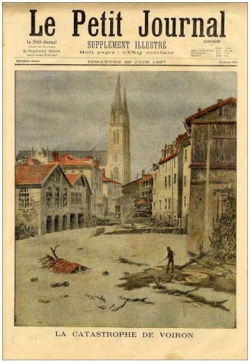 Inondation 1897 - Le Petit Journal Dimanche 20 Juin 1897