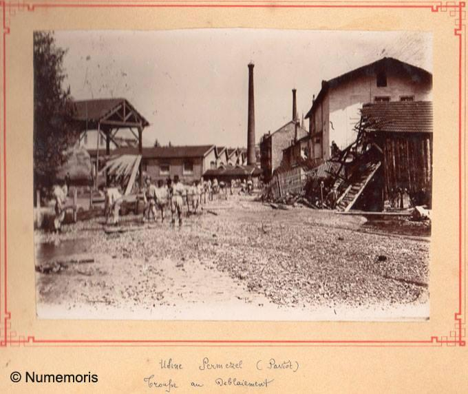 Inondation 1897 - Usine Permezel Paviot